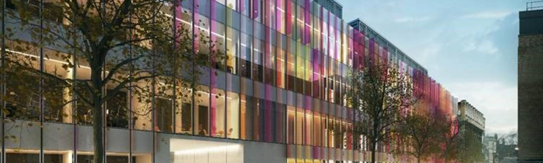Artist's impression of the University's new Biochemistry building, currently under construction