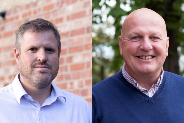 Composite image made up of photos of Rob Gregg (left) and Ray Blackford (right).