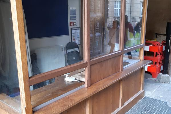 Photograph of Bodleian Library ticket office after renovations