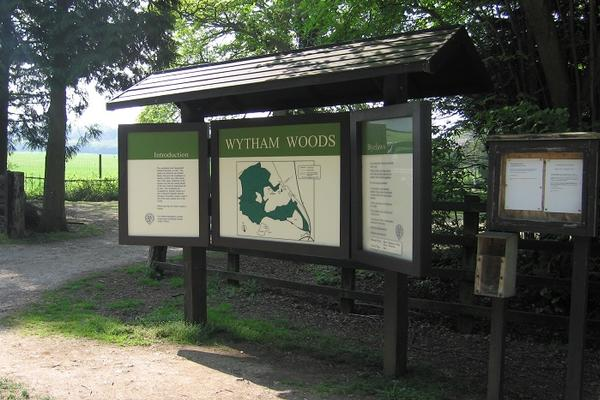 Wytham Woods information board