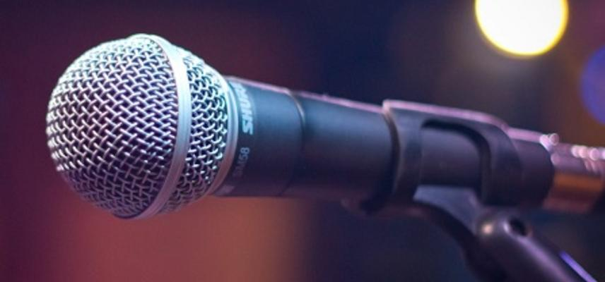 Close up photo of a microphone
