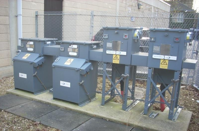 Photo of switchgear at a University electricity substation.