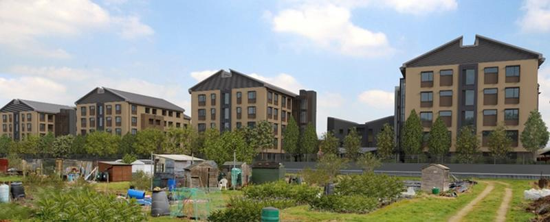 Photo of the Castle Mill accommodation blocks