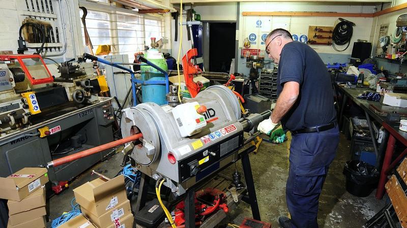 Maintenance operative at work