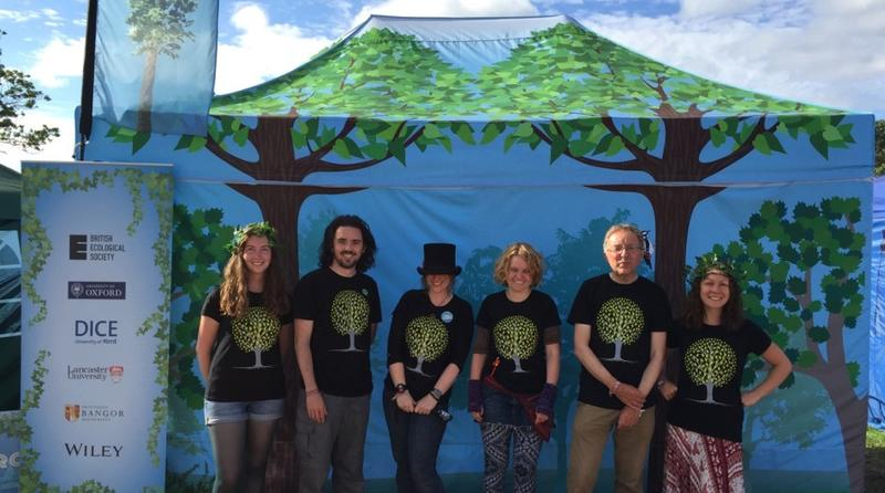 Nigel Fisher with Festival Bugs team at Glastonbury