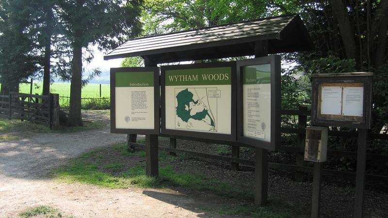 Wytham Woods information board