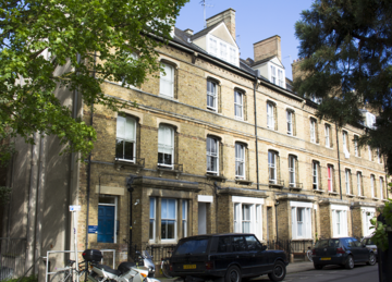 Photo of the exterior of terraced multi-storey building 16 Wellington Square