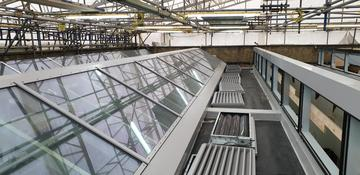 Photo of new skylights following roof repairs at St Cross Building