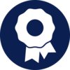 Dark blue rosette icon
