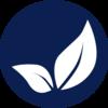 Dark blue leaf icon